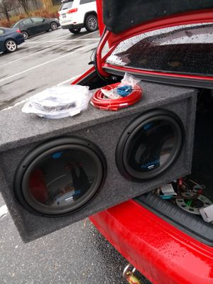 Subwoofer and amplified and cables for Sale in Rockville, MD
