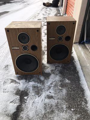 Pair of vintage Pioneer CS-G303 3 way home audio speakers for Sale in Columbus, OH