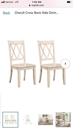 Cheryll Cross Back Dining Chairs - White Sand for Sale in Cincinnati, OH