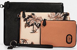 COACH POUCH TRIO WITH GLOWING PALM PRINT 90055 for Sale in Plantation, FL