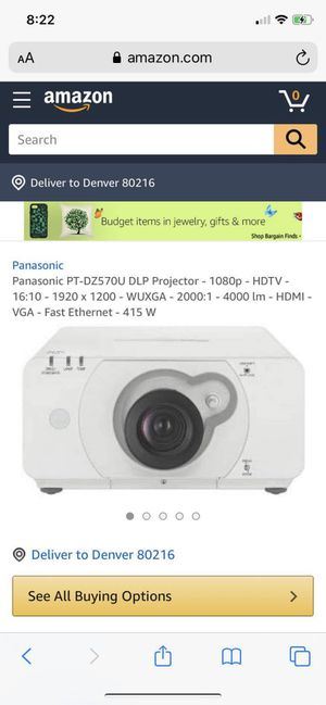 Panasonic projector for Sale in Denver, CO