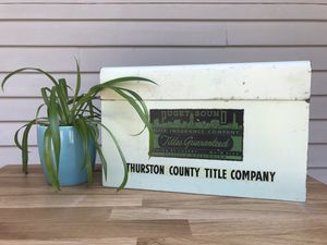 Vintage Metal Puget Sound Thurston County Title Box for Sale in Seattle, WA